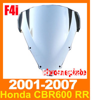 Free Shipping Windshield Windscreen For Honda CBR600F4i 2001-2007 Windscreen Chrome