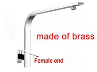 Perfect gooseneck tube Polished Chrome brass Rainshower Shower Head Arm Wall mounted PC93