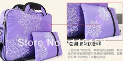 Free shipping Pop fashion stitching flowers Nylon ladies handbag laptop briefcase 12 14 15 inch notebook computer bags(China (Mainland))
