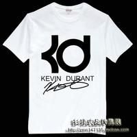 Free shipping Shirt kevin durant kd short-sleeve t-shirt clothes