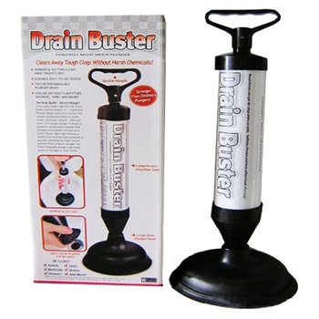 Drain Buster Plunger Toilet Sink Shower Cleaner New Pump Air Tool Clog Power