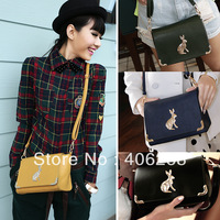 free shipping fashion retro style rabbit mini bag ladies' leather shoulder bag messenger bag