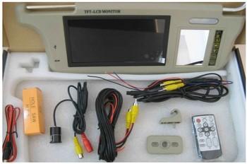 sun visor 7 inch TFT display rear view car camera wireless parking sensor system  PSV-2-448