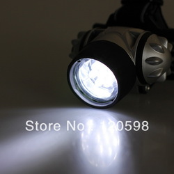 Night Outdoor Activities Hiking Fishing Camping High Power 19 LED HeadLight Headlamp Head Lamp Light Torch(China (Mainland))