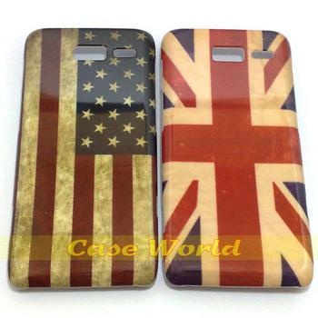 2 pcs Retro old US American flag UK British flag style back Hard Case for Motorola Razr i XT890