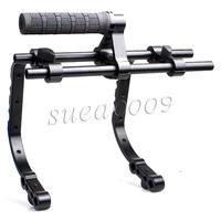 Pro Double C Shape Support Cage*2+Top Handle Grip DSLR Rig Rail System For DSLR