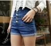 2013 New Women high waist plus large size denim shorts/ women's jeans/fashion pants S,M,L,XL,XXL /Wholesale/Retail  338