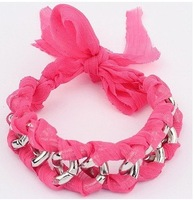 Min.order is $15(mix order)Christmas jewelry,2013 Newest bracelets&bangles/Handmade fashion Lace Bracelet/Have 4 color