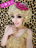 Baby bling gold fashion fluffy wig marilyn monroe classic vintage wig