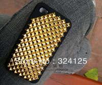 Factory direct 1000pcs brass DIY 12MM pyramid square stud and Rivet Punk Bag Belt Leathercraft Free shipping