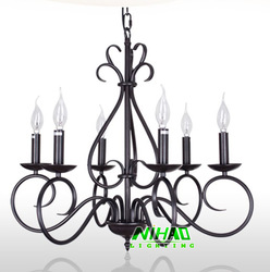 Free Shipping Art Deco Metal Chandelier Light With 6 Arms MD8649 D650mm H580mm(China (Mainland))