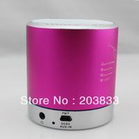 Pink Mini MP4 PC MP3 Music Radio Audio Stereo Speaker TF Micro SD FM Card Player