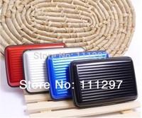 Free Shipping 300pcs 8 colors Aluminium Wallet As Seen On TV Credit Card Holder Aluma Wallet Card Guard