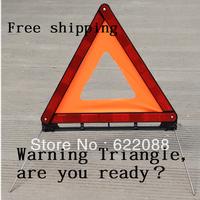 Car Reflective emergency tripod warning aircraft warning signs emergency folding Warning Triangles ,Free shipping
