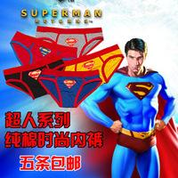 Super men's briefs men 100% cotton cartoon sports underwear