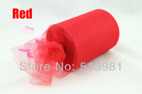 Free Shipping Red 6'' x 100 Yards TULLE Roll Nylon Spool Tutu Wedding Party Decoration supplier