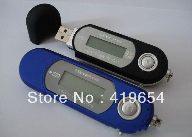 4GB USB MP3 Player With Screen AAA Battery Easy Use Best Gift Music Player 20PCS DHL EMS Free Shipping(China (Mainland))