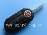 Fiat key 3 button modified flip remote key shell