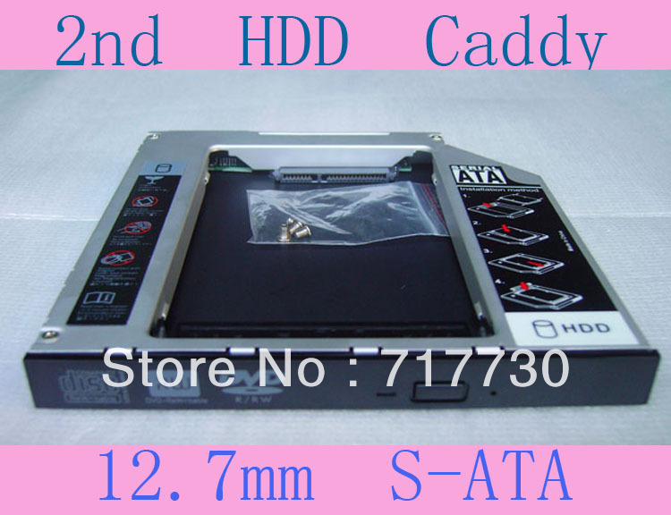 New Store Promotion!!! 12.7mm SATA to SATA Universal Newest Hard Disk Drive Adapter/Caddy Wholesale and Retail(China (Mainland))