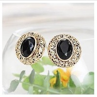 ES241  New Design Wholesales Fashion All Matching Black Stud Earrings Jewelry Accessories
