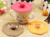 Free shipping,Tea pot head dustproof silicone cup lid,leakage-proof glass cup cover as table decoration coffee cup accessory.