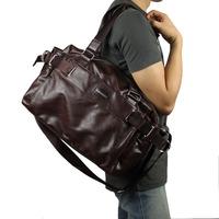 Man bag 2014 PU Leather  handbag messenger bag casual sports