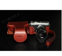 new  Genuine Vintage Leather Camera Case Bag Cover For Fuji Fujifilm X-E1 XE1 + Strap