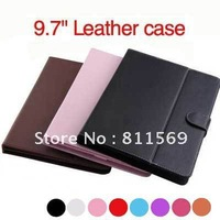 """Free shipping 9.7"""" Universal Leather Case cover For all 9.7inch  tablets Onda V971;Ramos W22pro;Sanei N90;EKEN A90;CUBE U19GT"""