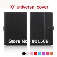 "Free shipping hight quality 10 inch Universal Leather Case cover For all 10"" tablet pc"