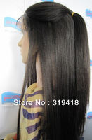 Lace Front Wig 100% Indian Remy Human Hair Lace Wig online French Lace YAKI Straight Beautiful Full wigs Wholesales NEW!