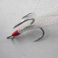 Free shipping! fishing hook,4 # stainless steel treble  hooks fishing tackle
