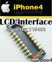 LCD interface card bad welding on the main board LOGIC BOARD FPC CONNECTOR cell phone Custom parts supplier   for iphone 4