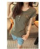 fashion  new casual candy color t shirt women cotton lady t shirts