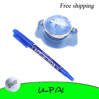 Free Shipping! 2set+Golf Ball Line Liner Marker Pen Marks Template Alignment Tool
