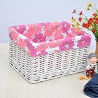 High quality product white underwear storage basket storage box clothes storage basket clothing basket 35cm*26cm*20cm