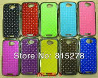 New Arrival Luxury Star Starry Sky Bling Diamond Case Cover For  HTC One S, 10pcs/lot Free Shipping