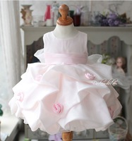 2014 3-15 years old spring summer elegant princess layered girls clothing baby tank dress Female children wear freeshpping