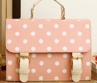 Bags women's handbag candy vintage messenger bag messenger bag cosmetic bag polka dot women's handbag