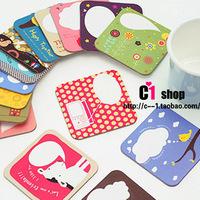 2-illust hot-selling cartoon coasters paper heat insulation pad f066