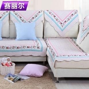Quilting slip-resistant sofa cushion fabric cushion 100% cotton sofa cover set sofa towel thick