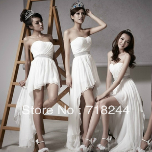Princess Bride super popular bride before marriage Chiffon Strapless dress(China (Mainland))