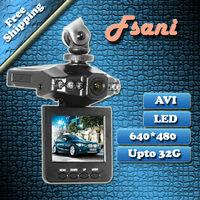 "Freeshipping On Sell 2.5""LCD 6 IR LED HD h198 Car DVR Black Box Camera Recorder,fsani(HK)"