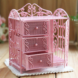 Fashion vintage iron wire cabinet jewelry cabinet photography props decorations birthday gift girls f446a(China (Mainland))