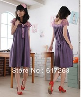 2013 New Hot sale spring and summer fashion lace splicing maternity dress,2 colours maternity clothing free shipping