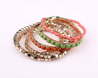 Min.order is $15(mix order)Factory price,Newest hot beads jewelry,Double color Multi-level Bracelet