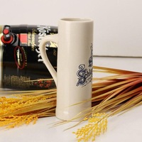 German beer mug super large beer mug cachalots Toby belt personality flower