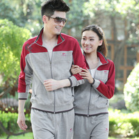 2013 spring new arrival lovers design plus size sports wear outerwear long sleeve length pants set outdoor clothing