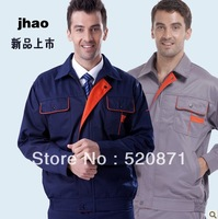 10% off discount LOGO printed and emboridery customized protective clothing work wear male sets protective overalls