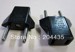 Universal Travel Power Plug Adapter US to EU EURO Adaptor Converter AC Power Plug Adaptor Connector(China (Mainland))