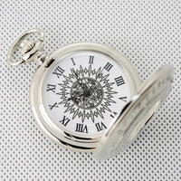 Classic pocket watch collection table silver cutout vintage pocket watch